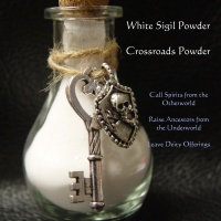 WHITE SIGIL POWDER, HECATE CHARMS & INFO SHEET for offerings